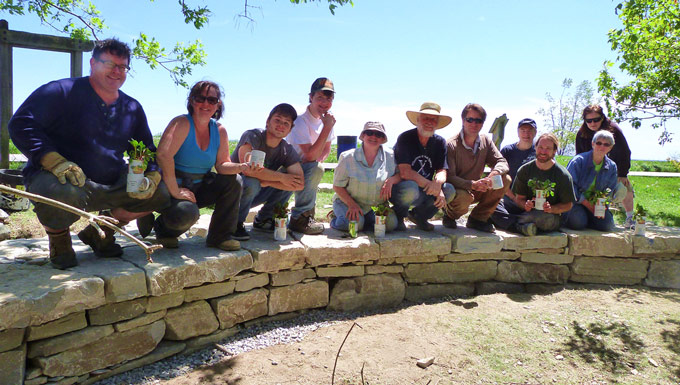 CEG Volunteers Stonework
